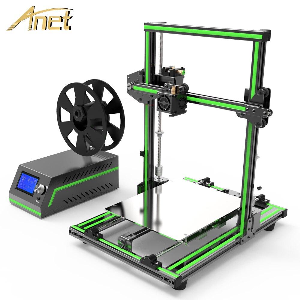 2018 il Più Nuovo! Anet E10 E12 3D Stampante di Grande Formato di Stampa Ad Alta Precisione Reprap Prusa i3 FAI DA TE 3D Kit Stampante con Filamento Libero