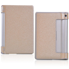 Fashion Silk Pattern PU leather Folding Folio Case for Lenovo B8000 B8000H B8000