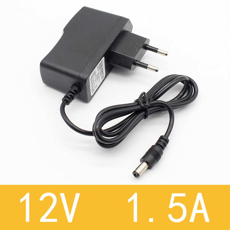 1pcs New <font><b>AC</b></font> 100-240V to DC <font><b>12V</b></font> 1.5A Switching Power Supply Converter <font><b>Adapter</b></font> EU Plug image