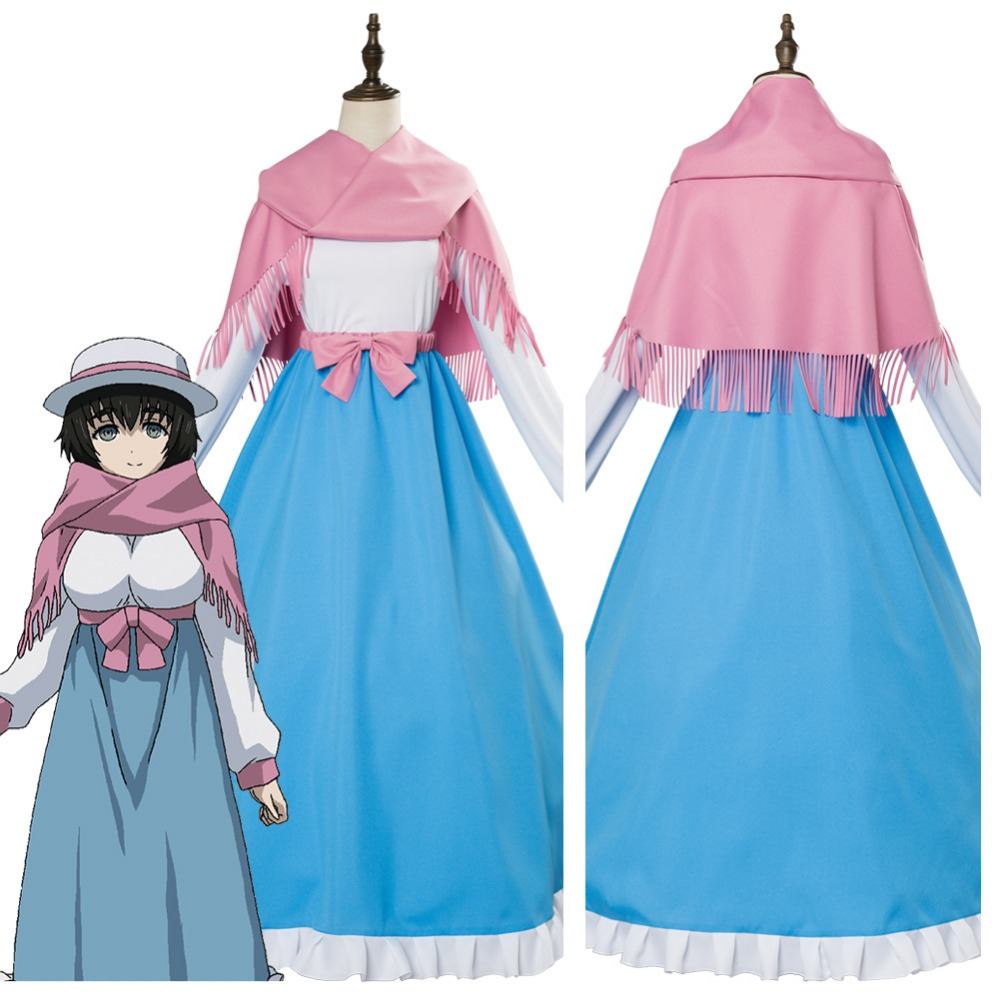 Steins;Gate 0 Shiina Mayuri Cosplay Costume Outfit Adult Women Halloween Carnival Costumes