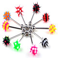 Punk Blending Surgical Steel Nipple Tongue Ring Ball Bar Barbells Body Jewelry Piercing Silicone Stainless Steel