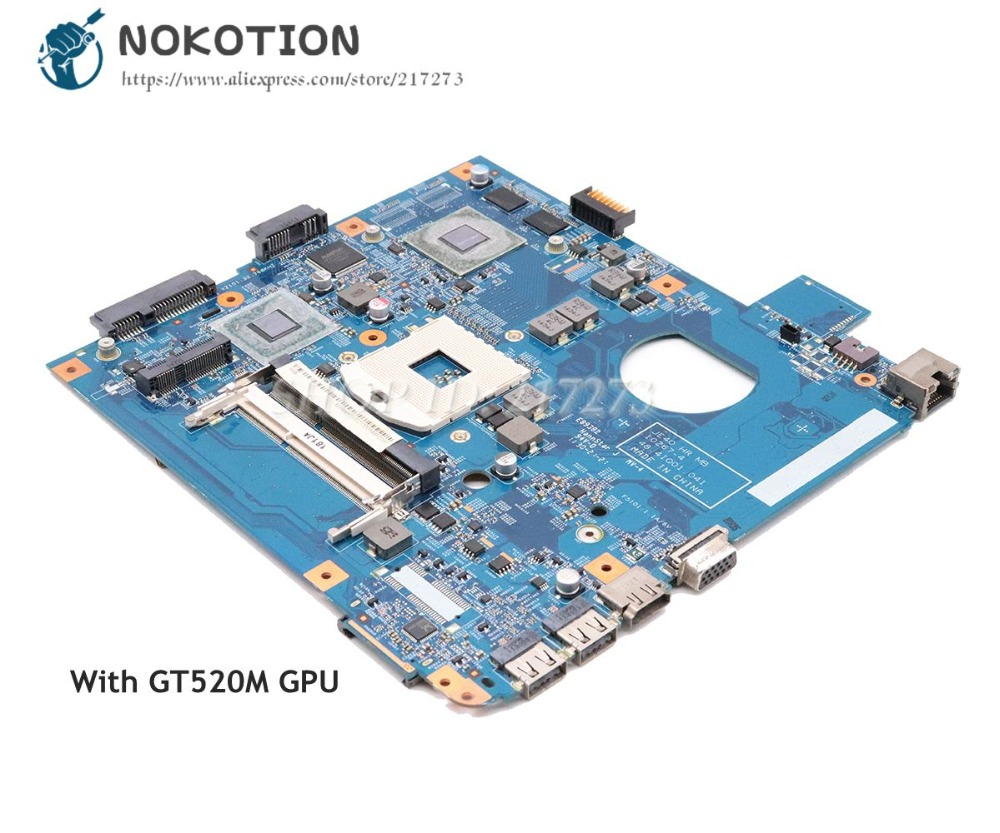 NOKOTION  For Acer aspire 4750 4750G 4755G Laptop Motherboard HM65 DDR3 GT520M MBRHY01002 48.4IQ01.041 Main BoardNOKOTION  For Acer aspire 4750 4750G 4755G Laptop Motherboard HM65 DDR3 GT520M MBRHY01002 48.4IQ01.041 Main Board