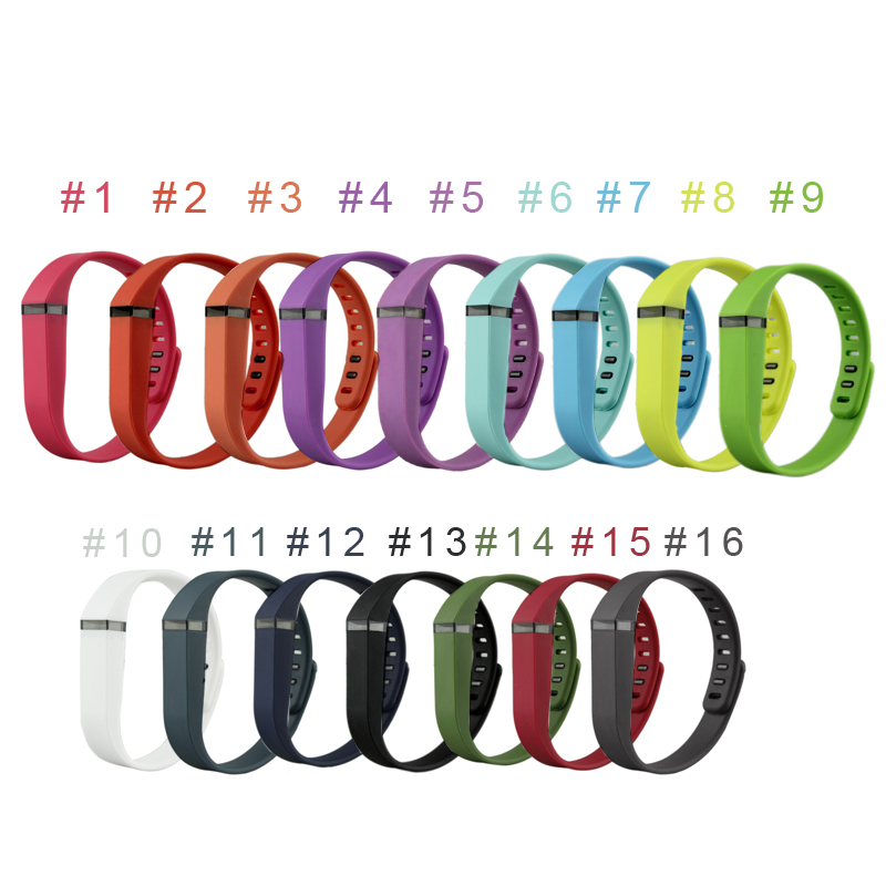 New 15 Colors Silicone Bracelet Strap For Fitbit Flex Watch Band Multi-color Replacement Wristband
