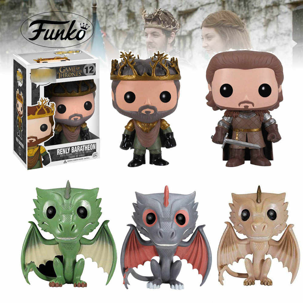 Action A Song of Ice and Fire รูปของเล่น Renly Baratheon Robb Stark Greywind Funko ของเล่น HBO เกม thrones Collection ของเล่น