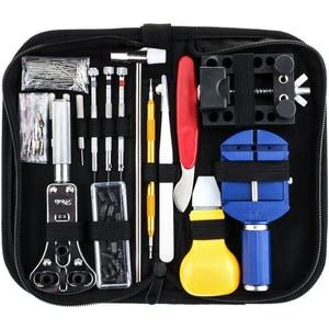 Vastar 147 шт. набор инструментов для ремонта часов, набор инструментов для регулировки металла, открывалка для браслетов, пружинный инструмент ...