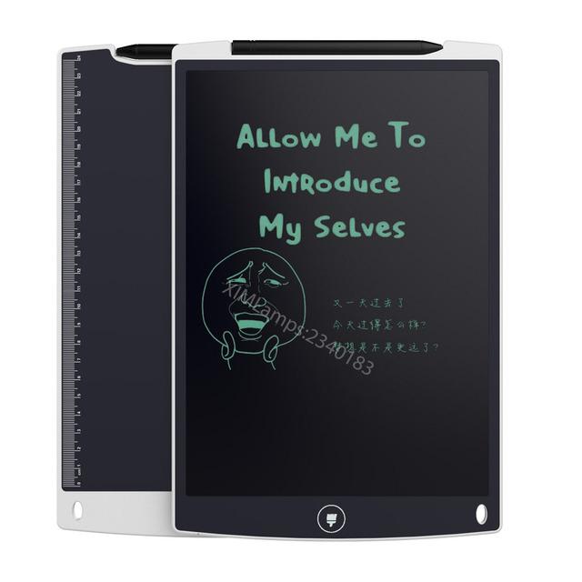 12 polegada LCD Escrita Tablet Eletrônico Placa Pequena Lousa Placa de Escrita Escritório Sem Papel com Canetas Stylus