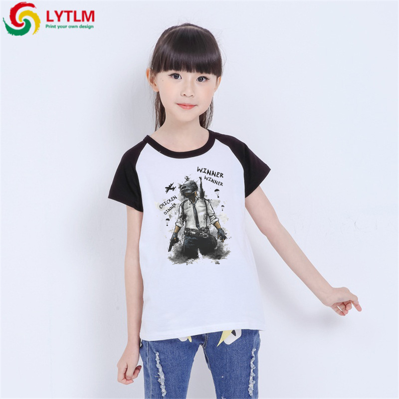 LYTLM Toddler Boys Tops PUBG T Shirt Kids Girls Shirt Size 14 Camisa Infantil Masculina Boy Tshirts Kids Gamer Kids Tee Shirts(China)