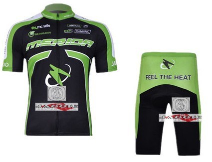 MERIDA 2011 short sleeve cycling team jersey + shot set kit wear clothes bicycle bike ri ...