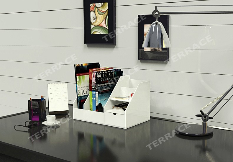 aliexpress.com : buy desktop acrylic magazine book rack,jewelry ... - Organizer Da Scrivania