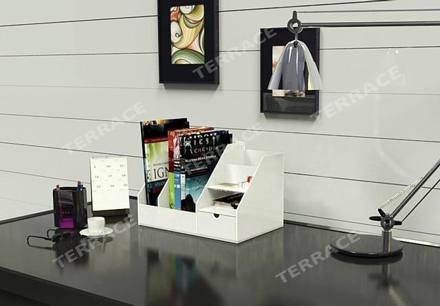 Aliexpresscom Buy Desktop Acrylic magazine book rackjewelry
