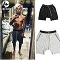 Kanye Джастин Бибер Человек Шорты Большой Карман Шнурок Гарем Шорты Случайные Бегунов Мужская Мода Брюки