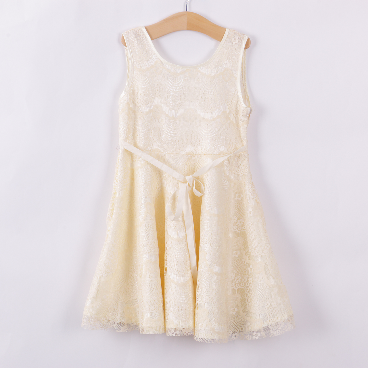 2018 Hot Kids Baby Girls Princess Party Dress Lace Sleeveless Gown Formal Dress 2-11Y