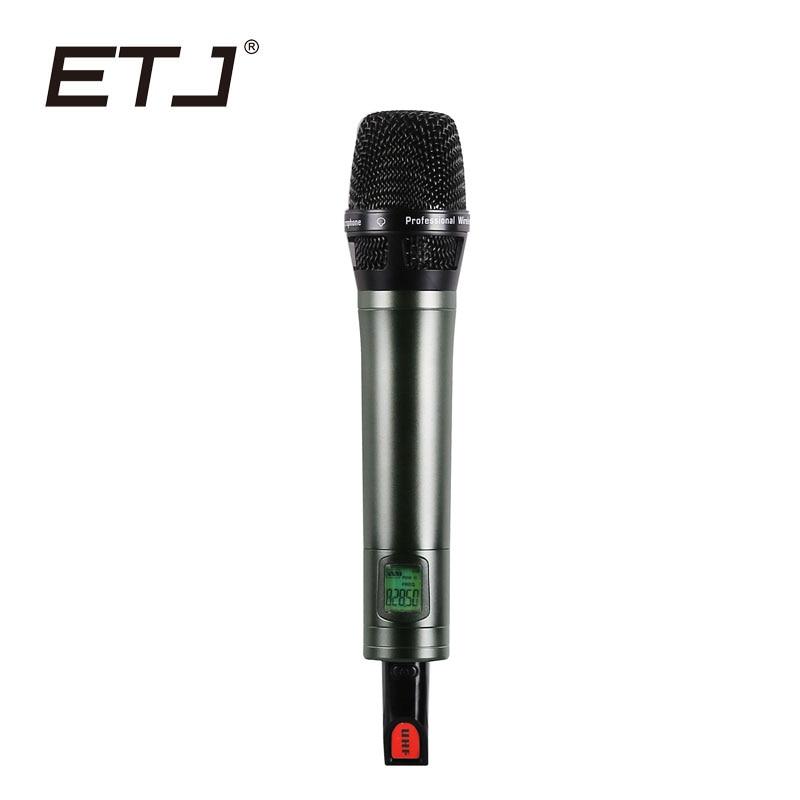 ETJ Brand Professional UHF Wireless Microphone Transmitter Handheld Stage Performance etj brand ur1000d true diversity professional uhf wireless microphone 2 transmitter 4 receiver stage performance microphone