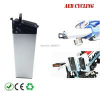 Бесплатная доставка литий ионный аккумулятор 36 В 10Ah внутренняя трубки аккумулятор серебристый корпус Аккумулятор для города велосипед скл