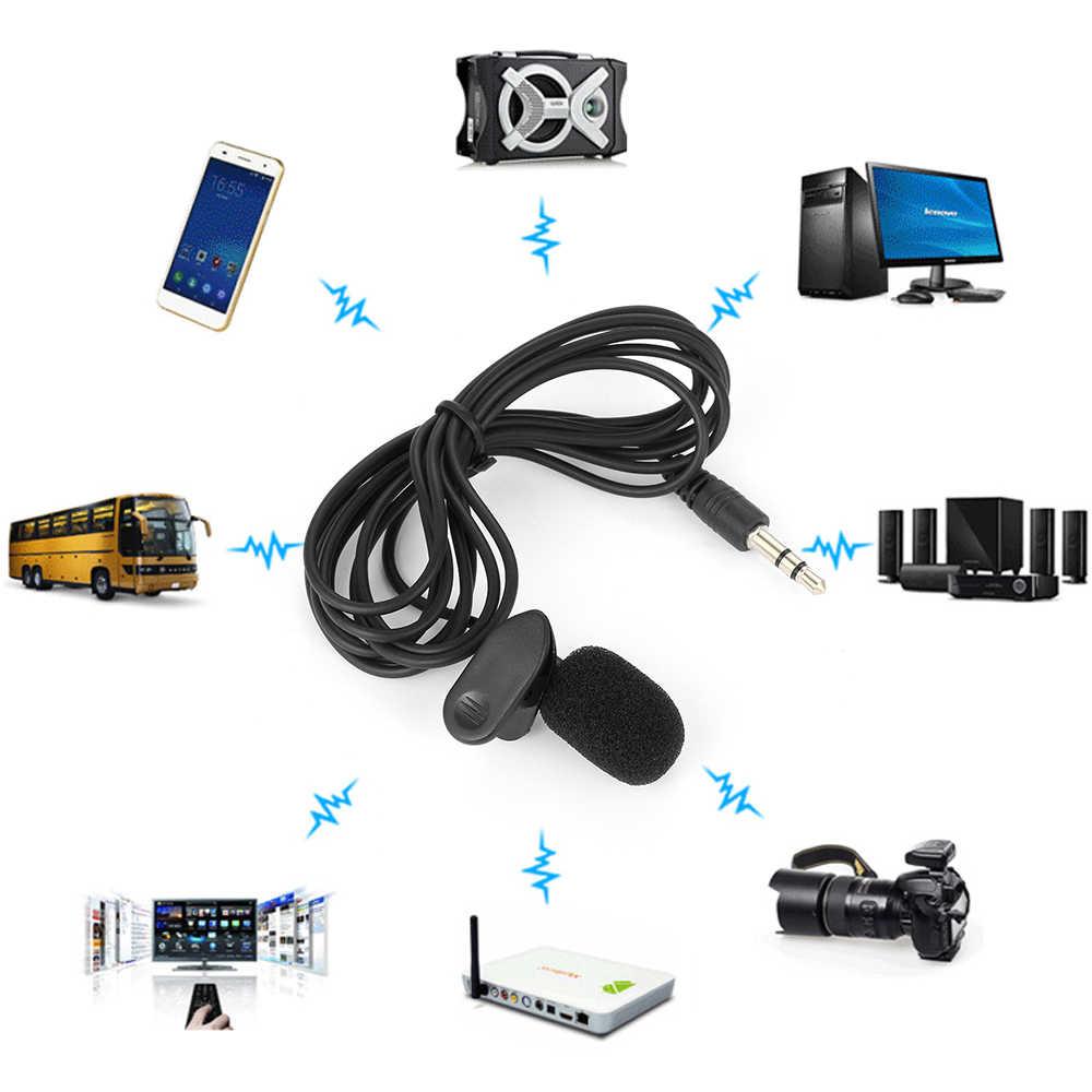 1 PC ポータブルミニクリップでヘッドセットマイク有線 3.5 ミリメートルコンデンサーマイクユニバーサルためのためツアーガイド教育