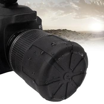 Wodoodporna lustrzanka silikonowy ochraniacz uniwersalny przeciwpyłowy odporny na upadek osłona obiektywu DSLR ochronny Len Caps Camera Len Protector tanie i dobre opinie centechia DSLR camera Silicon Approx 62x51mm