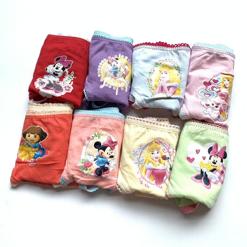 36pcs /lot  Girls Cartoon Briefs Designs Underwears Children Cotton Short Pants Kids Panties Atnn0002