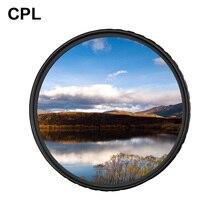 Zomei CPL caméra filtre circulaire polarisant CIR PL pour Nikon Canon Sony DSLR objectif 37/40. 5/49/52/55/58/62/67/72/77/82/86mm