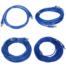 2m/5m/10m/20m RJ45 Cable CAT5 CAT5E Blue Ethernet Lan Network Cable for PC and Switch Hub Router Modem connecting