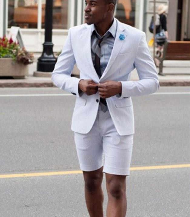 magazin de desfacere prize de fabrică diverse culori New Elegant Ivory/White Men Suit Short Pants Men Summer Wear Suit ...