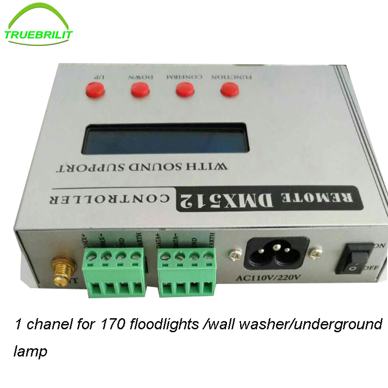 170-240V 47-63Hz LED DMX 512 RGB controller with sound support for Floodlights wallwasher underground dmx512 digital display 24ch dmx address controller dc5v 24v each ch max 3a 8 groups rgb controller