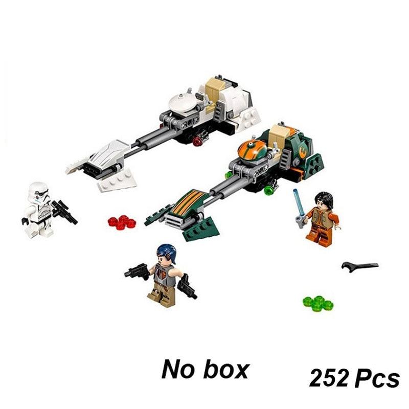 252Pcs Star War Rebels Ezra's Speeder Bike Building Block Toys Enlighten 10369 Figure Gift For Children Compatible With 75090