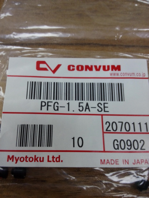 JAPAN CONVUM PFG-1.5A-SE Vacuum chuck A pack of 10pcs japan original convum vacuum generator cv 20hs new original