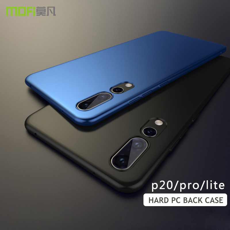 free shipping 00d27 5501f for huawei p20 lite Case Cover P20 pro Hard PC back cover Case MOFI for  huawei P20 Full Cover p20plus Plastic Matte frosted Case