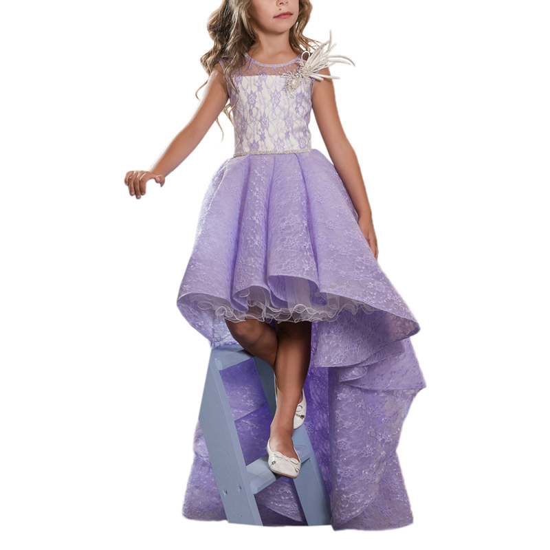 purple little girls pageant dresses 2-12 years fancy kids prom dresses girls puffy ball gown flower girls dresses for wedding satin and feathers cerise color ball gown little girls dresses kids with pearls kids girls formal pageant dresses
