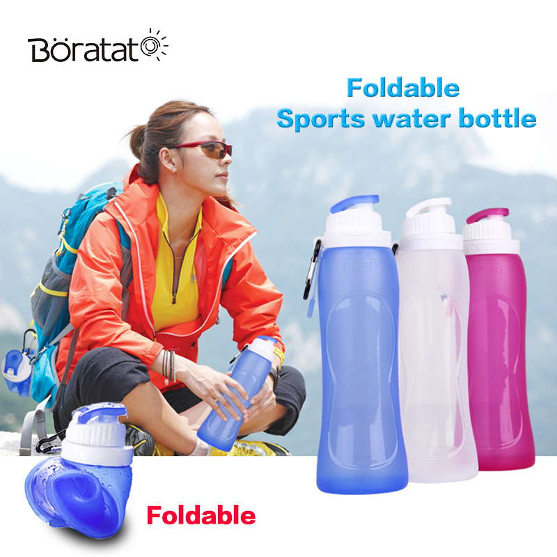 500ML Collapsible Sports Bottle Silicone Folding Travel Bottle Drink Camping Water Bicycle Bottle