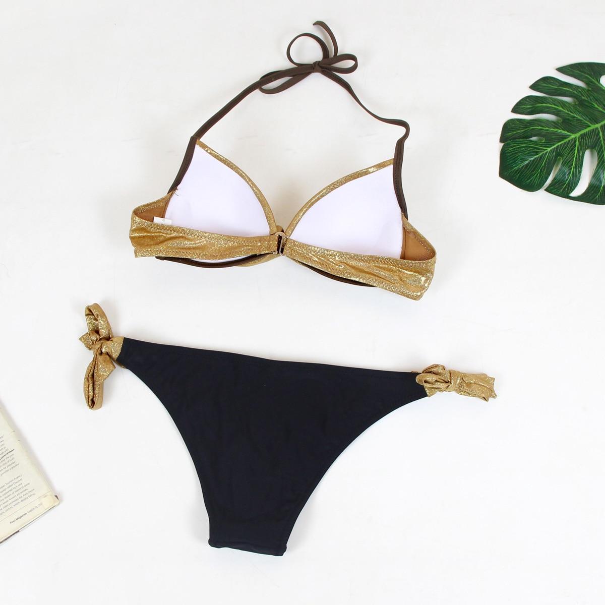 HTB1bKNzN4TpK1RjSZFMq6zG VXau Snake Skin Splicing Backless Bandage Swimwear Sexy Bikini New Swimsuit Women Swimwear Bikini Set Push Up Swim Suit  Women