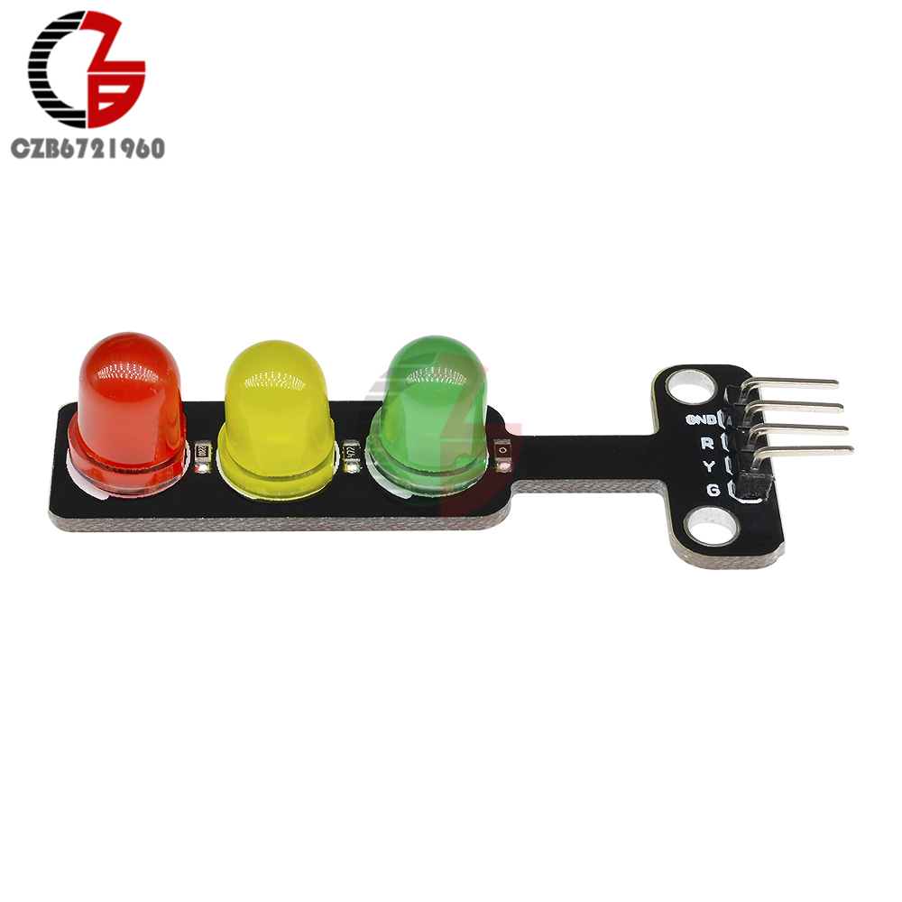 10Pcs DC 5V Mini LED Traffic Light Module 5mm Red Yellow Green Color LED Display Mini Traffic Signal Lamp For Arduino