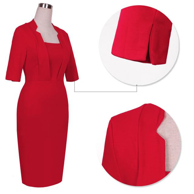 New Vestido Fashion Women Tropical Vintage Business Dresses Bodycon Pencil Sheath Costume Shift Tunic Dress E693