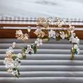 Tiara Headband Wedding Hair Accessories Crown Bride Headpiece Pearl Crystal Tiaras Hair Jewelry Bijoux Femme Cheveux WIGO0804