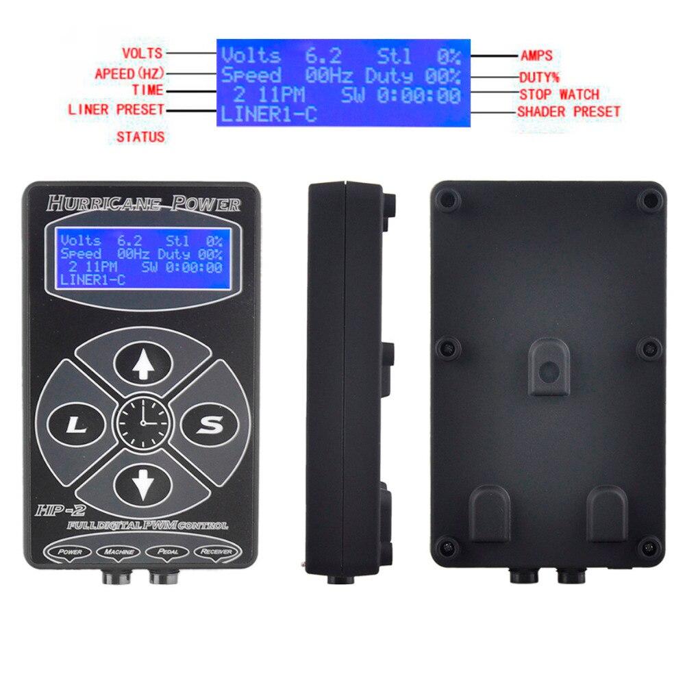Tattoo Power Supply Hurricane HP-2 Power Supply LCD Display Digital Dual Tattoo Power Supply Machines Hot Sale