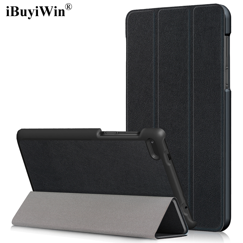iBuyiWin Slim Folding Stand Cover PU Leather Case for Lenovo Tab 7 Essential TB-7304F TB-7304I TB-7304N 7 Tablet Funda+Film+Pen qosea for lenovo tab 7 essential 2017 tb 7304 7304f 7304i 7304x pu leather smart stand case 7 0 inch tablet pc stand back cover