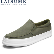 LAISUMK Loafers Men Canvas Shoes Shallow Slip On Flat Casual Shoes Breathable Solid High Quality Comfortable Sneakers new high quality men s vulcanize shoes breathable spring summer men casual canvas shoes slip on flat shallow men sneakers