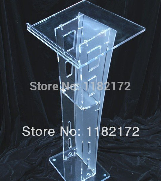 Free Shipping/clear Acrylic Furniture Hot Sell Simple Solid . Acrylic Pulpit Acrylic Podium