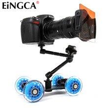Mini Masaüstü Kamera Raylı Araç Masa Dolly Video Slider Parça Canon Nikon D5300 D7100 D600 60D 5DII 5 DIII 7D DSLR Aksesuarları