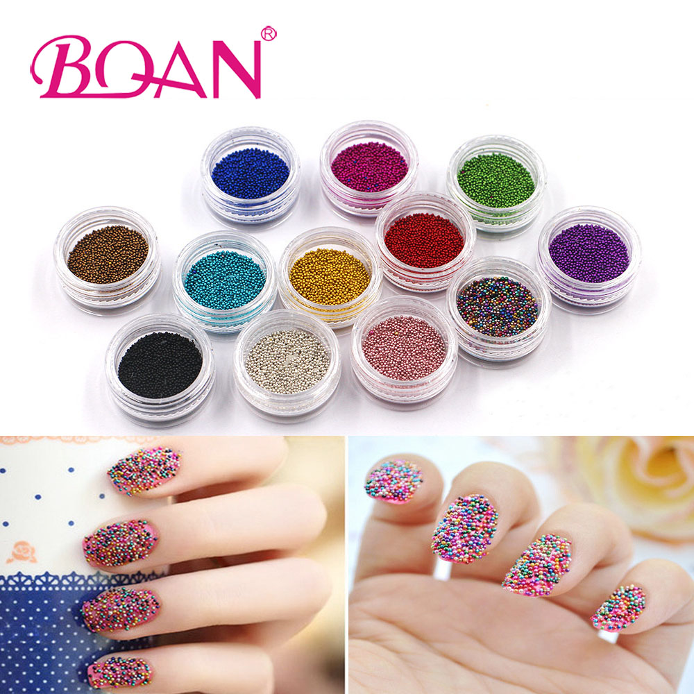 New Arrival 12 Colors Caviar Beads Nail Glitter Powder Nail Art 3D Tips Decoration For Manicure 10g box clear nail caviar micro beads 3d glitter mini beans tiny tips decorations diy nail art rhinestones manicure accessories