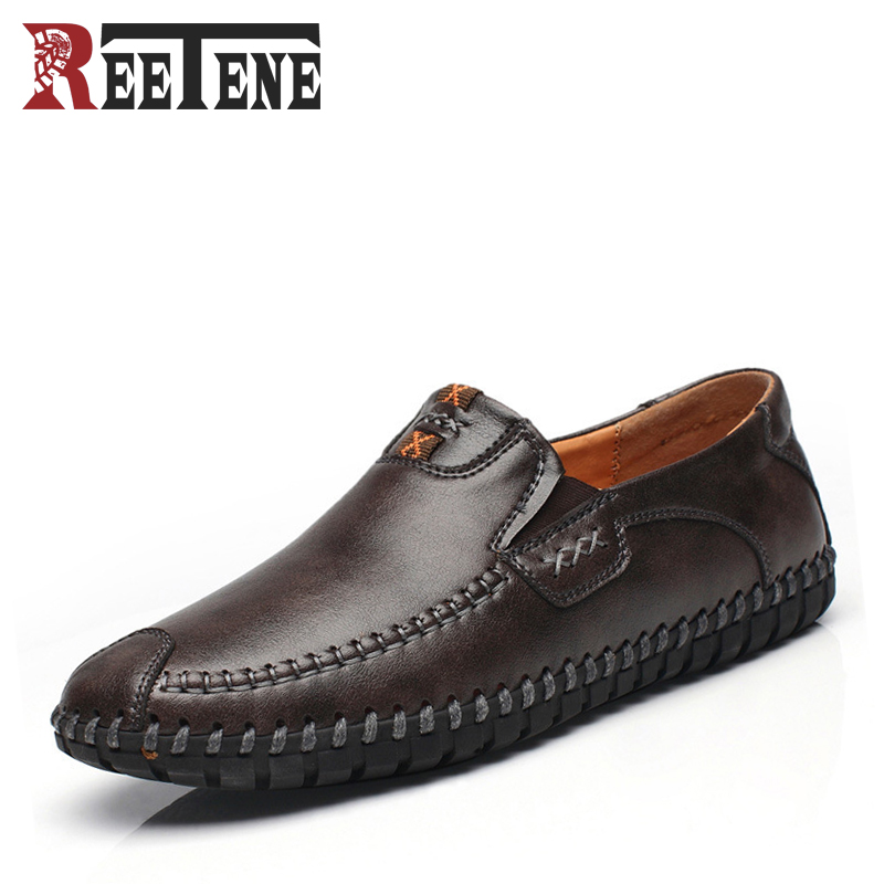 2017 New Fashion Casual Men Shoes Soft Bottom Comfortable Loafers Moccasins Mens Driving Shoes High Quality Flats For Male split leather dot men casual shoes moccasins soft bottom brand designer footwear flats loafers comfortable driving shoes rmc 395