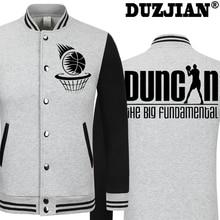 2016 Spring new Spur Tim Duncan casual jacket Big Fundamental cheap men winter jackets male coat boys jacket hip hop