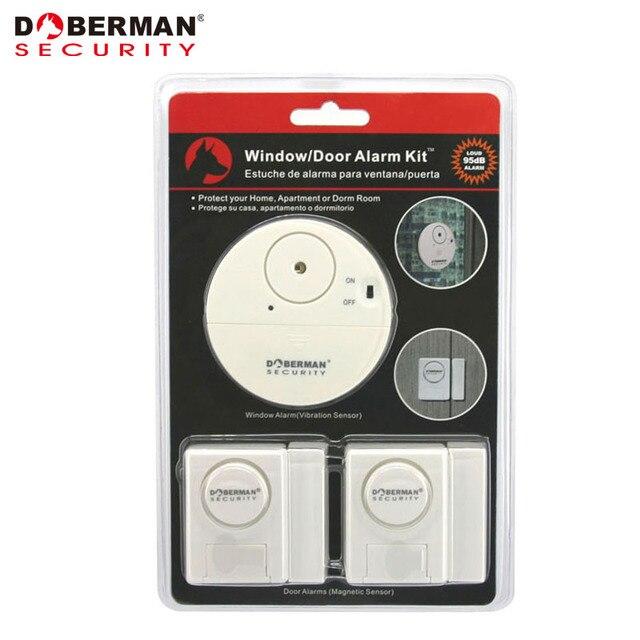 Doberman Security Alarm Kit Door Window 1pcs Vibration Alarm And 2pcs Magnetic Warning Intruder Home Security  sc 1 st  AliExpress.com & Doberman Security Alarm Kit Door Window 1pcs Vibration Alarm And ...