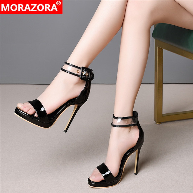 b45060719a7 MORAZORA Plus size 33-46 New 2019 women sandals 11.5cm sexy high heels  summer party wedding shoes ladies platform shoes