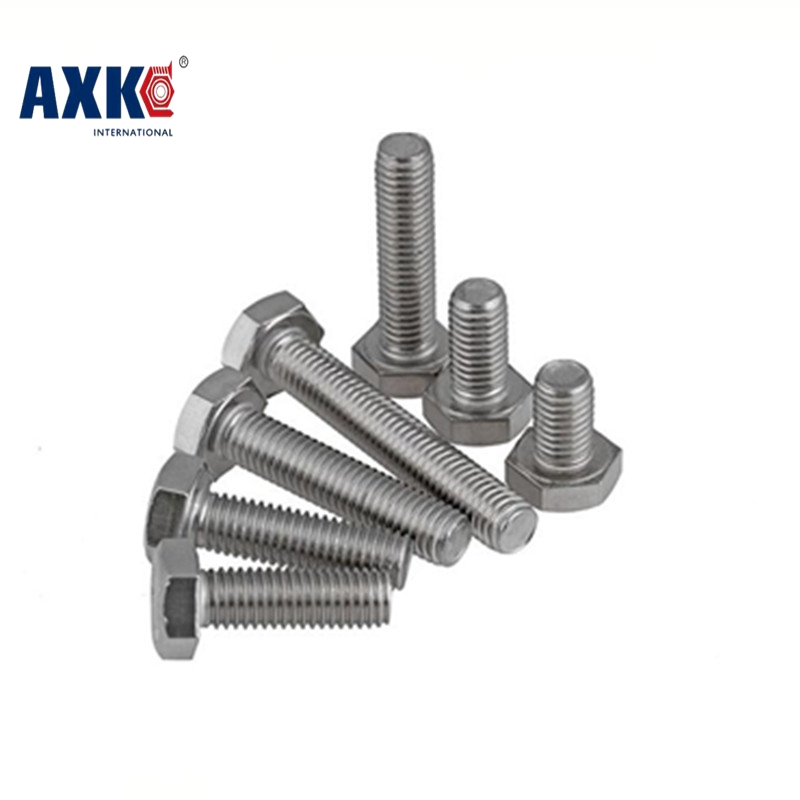 Axk M12*1*16/20/25/30 M12x1x16/20/25/30 304 Stainless Steel 304ss Din933 Bolt Thin Pitch Fine Thread External Hexagon Hex Screw 1pcs 1 2 12 bsw thread 1 1 4 1 1 4 inch length 304 stainless steel bsw thread bolt unified hex hexagon screw