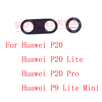 2PCS Rear Camera Glass Lens For Huawei P20 / P20 Lite / P20 Pro / P9 Lite Mini Back Camera Lens Glass Cover With Glue Sticker image