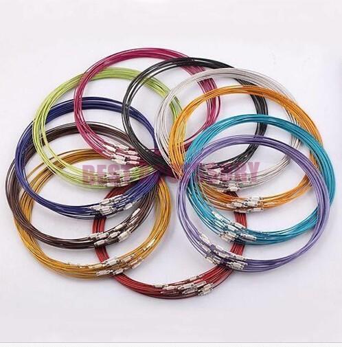 conew_memory wire cord necklace choker00123