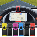Volante del coche universal de bicicleta clip de montaje de goma banda de soporte para iphone samsung lenovo htc ipod soporte de teléfono móvil cubre