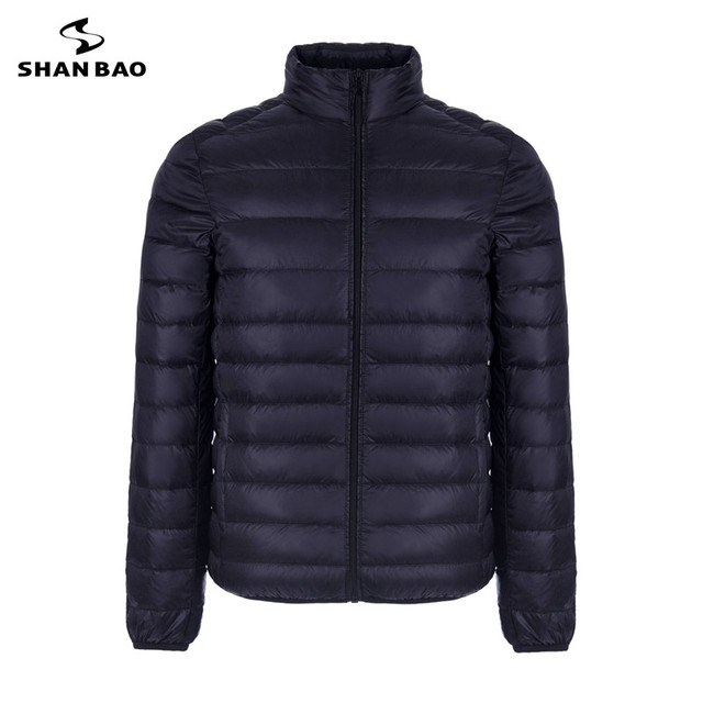 2018 autumn and winter thin section warm fashion casual men down jacket high quality zipper pocket white duck down collar coat