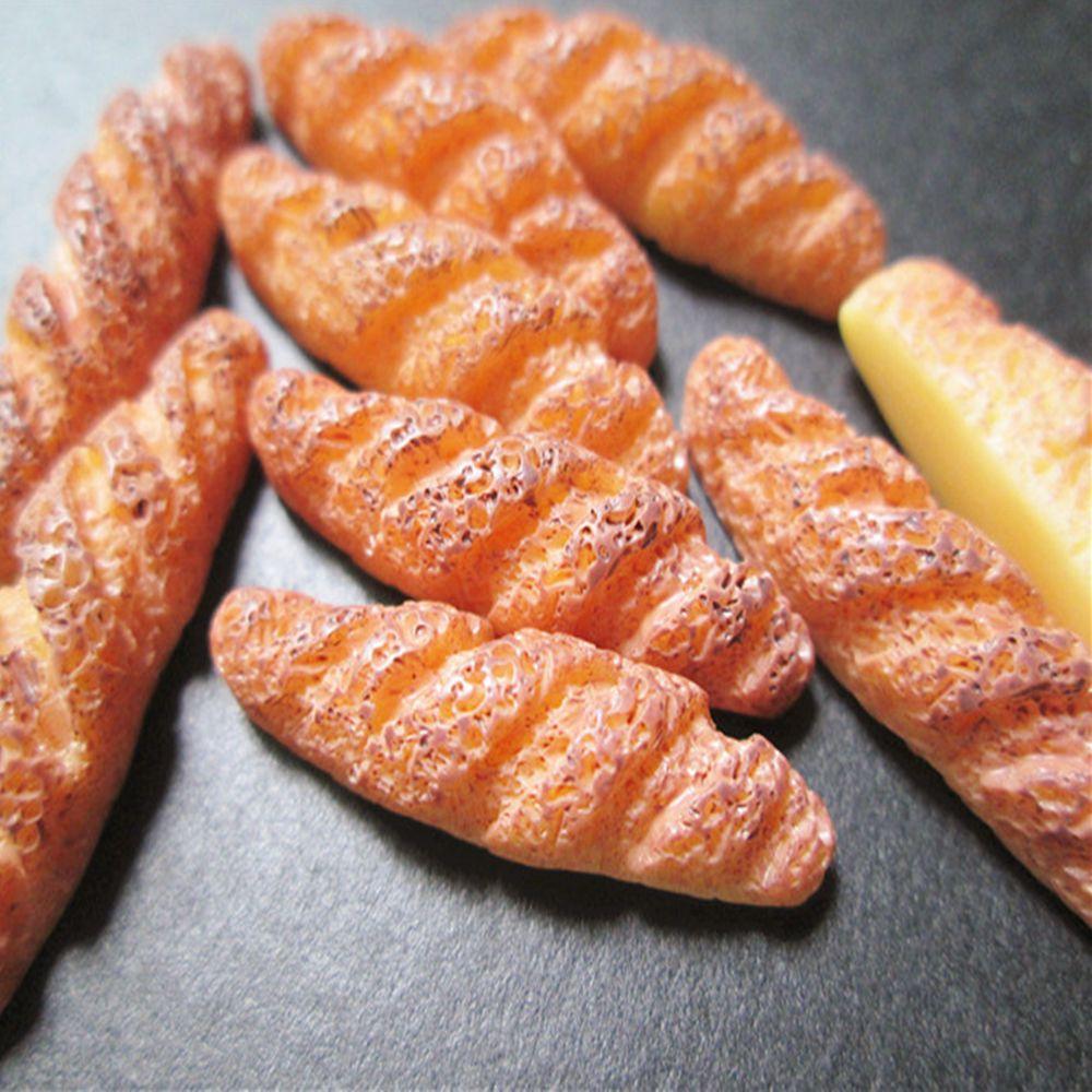Creative Kawaii Kids Toys 10pcs New Flat Back Resin Cabochon Artificial Miniature Fake Food Bread High Quality